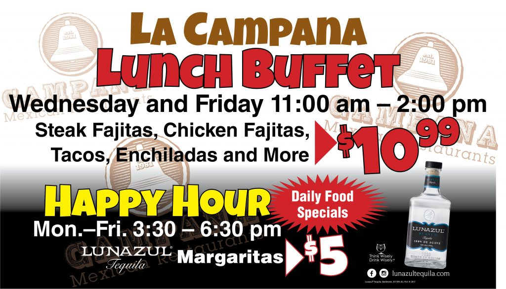 La Campana Lunch Happy Hour Banner 1
